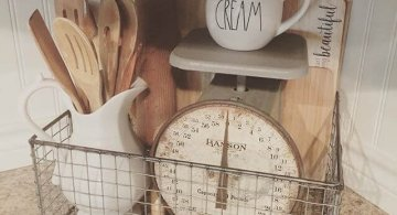 Idei de amenajare a bucatariei intr-un stil rustic