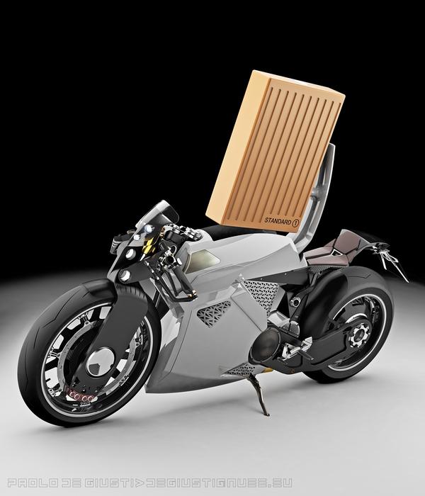 Motocicleta electrica proiectata de Paolo De Giusti