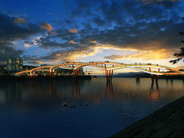 Nanhe River Landscape Bridge - Poza 7