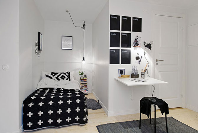 10 idei super-creative pentru dormitoare super-mici - Poza 1