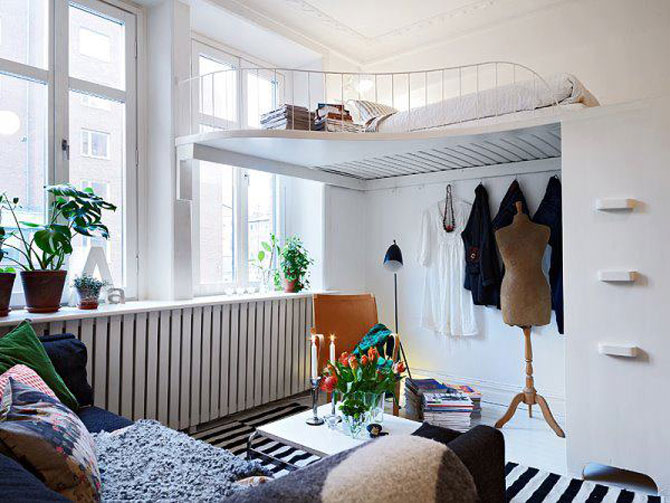 10 idei super-creative pentru dormitoare super-mici - Poza 9