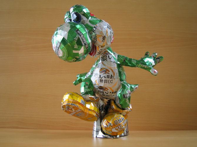 10 sculpturi din doze reciclate de bauturi - Poza 5