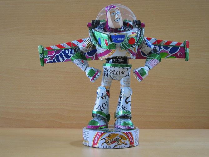 10 sculpturi din doze reciclate de bauturi - Poza 8