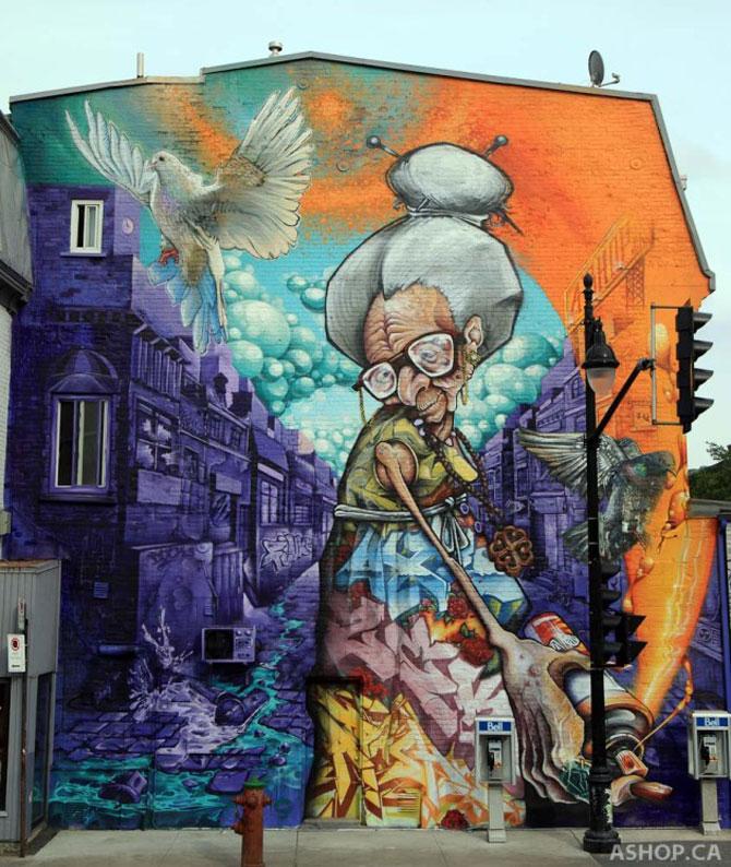 15 exemple de arta urbana - Poza 2