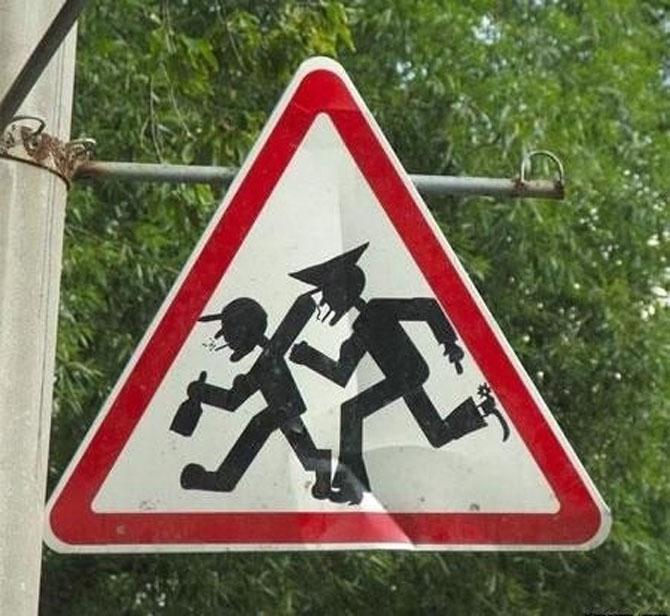 Ciudatenii rusesti: 15 semne de circulatie - Poza 14