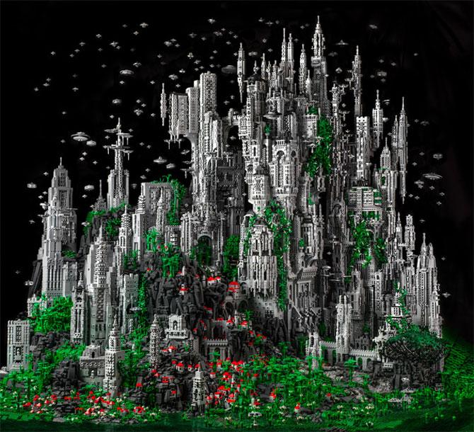 200.000 de piese LEGO pentru un castel SF - Poza 1