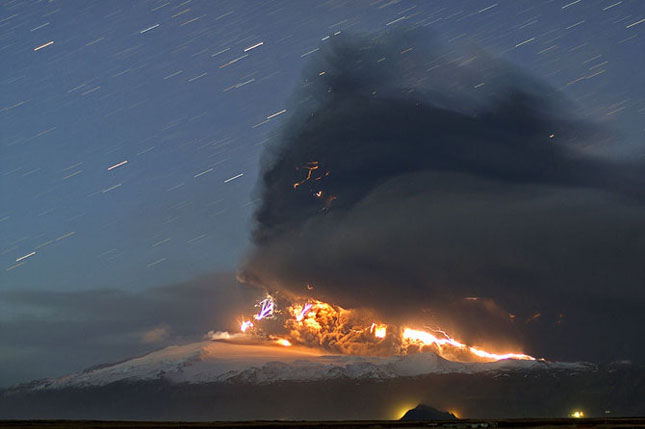 Fata nevazuta a eruptiei vulcanice din Islanda - Poza 9