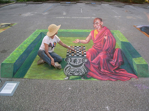 37 desene pe asfalt impresionante