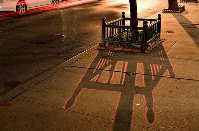 Opere stradale bazate pe umbre - Poza 10