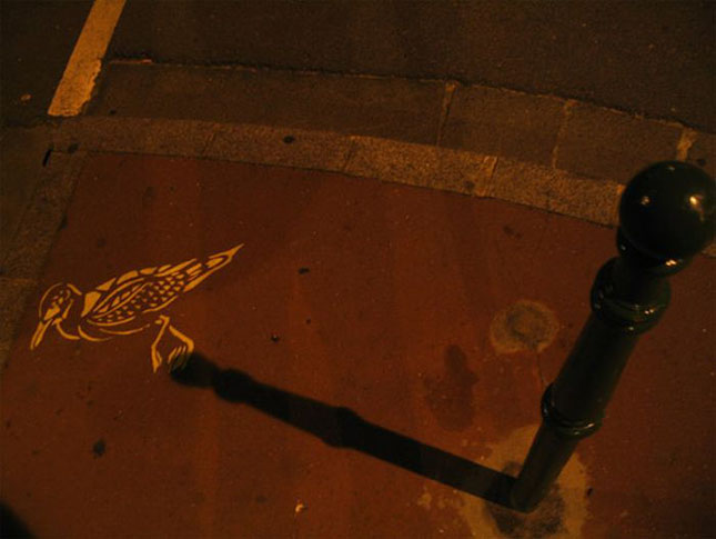 Opere stradale bazate pe umbre