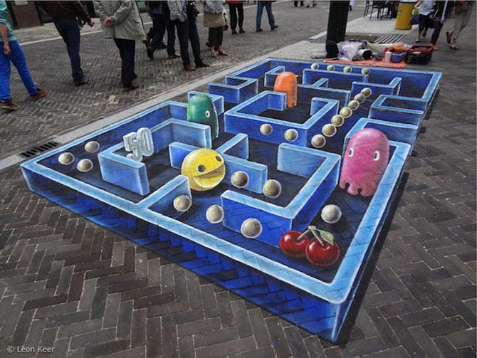 Desene 3D Pacman Leon Keer