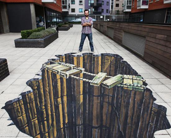 25 de desene 3D pe asfalt - Poza 1