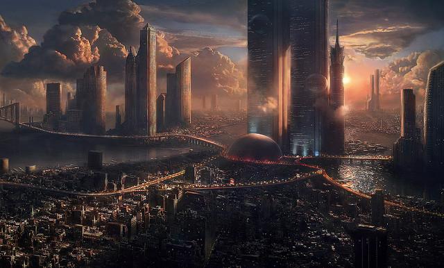 Wallpaper HD: Orasul viitorului - Poza 1