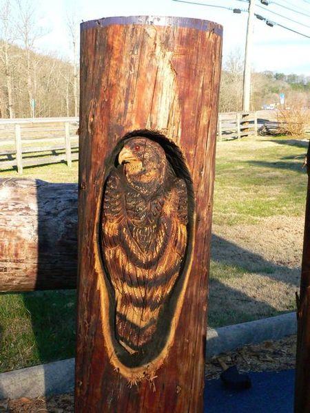 Sculptura in lemn de Randall D.Boni - Poza 17