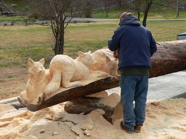 Sculptura in lemn de Randall D.Boni - Poza 18