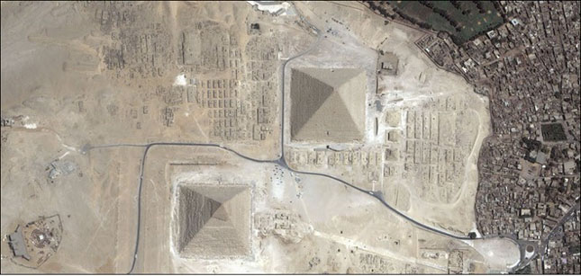 Structuri vazute din satelit