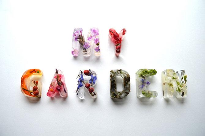 Alfabet din flori si gheata - Poza 2