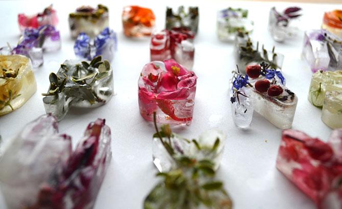 Alfabet din flori si gheata - Poza 4