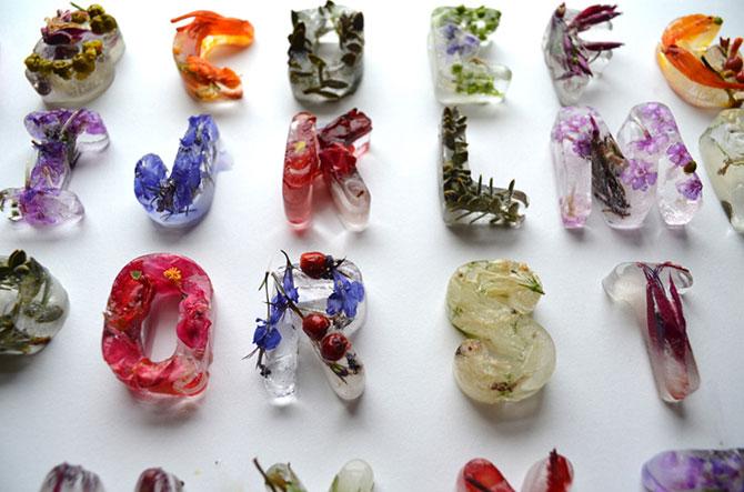 Alfabet din flori si gheata - Poza 5