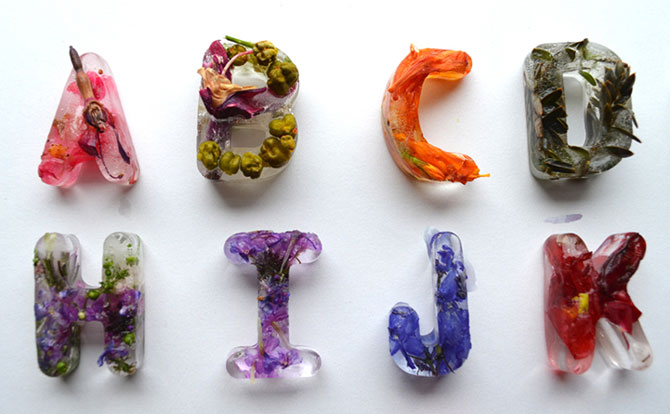 Alfabet din flori si gheata - Poza 6
