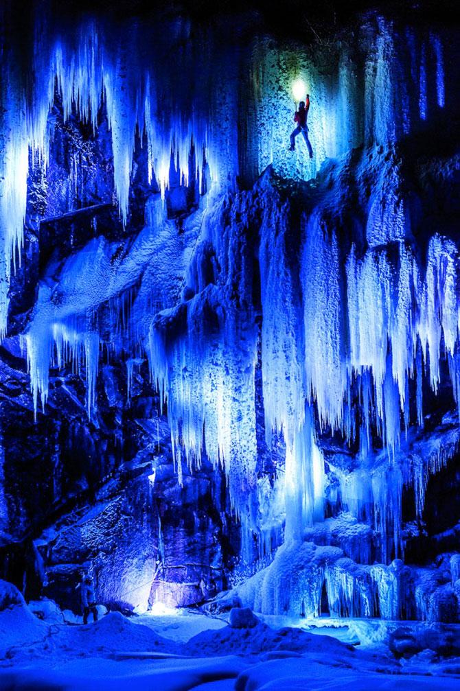 Alpinism pe cascadele inghetate din Norvegia - Poza 3