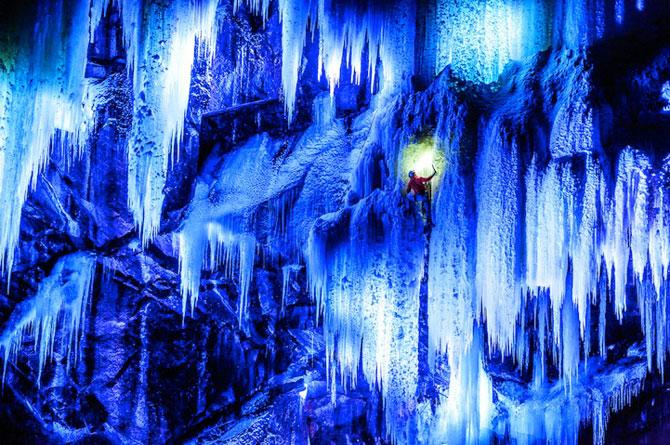 Alpinism pe cascadele inghetate din Norvegia - Poza 4