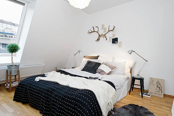 59 mp de eleganta simpla in Suedia - Poza 14