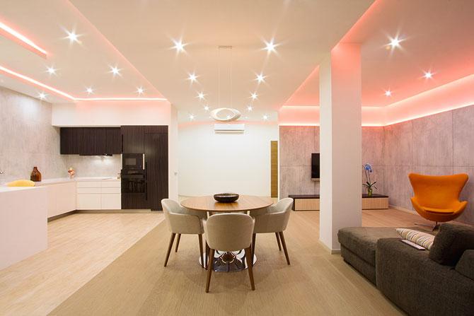 Apartament luminat elegant cu LED-uri la Sankt Petersburg - Poza 1
