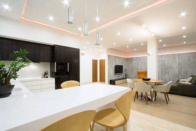 Apartament luminat elegant cu LED-uri la Sankt Petersburg - Poza 4