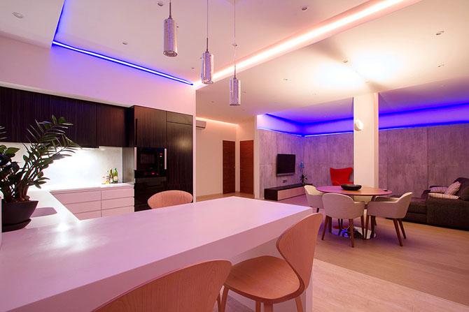 Apartament luminat elegant cu LED-uri la Sankt Petersburg - Poza 6
