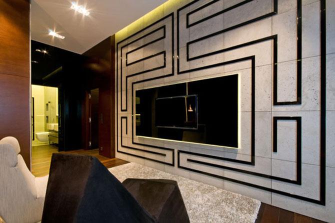 Apartamentul cu pereti cu personalitate, la Varsovia - Poza 7