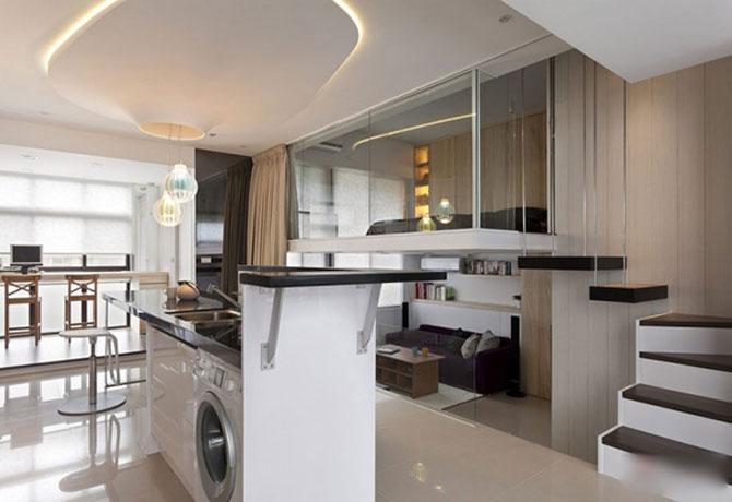 Apartament mic, cochet, alb-negru - Poza 1
