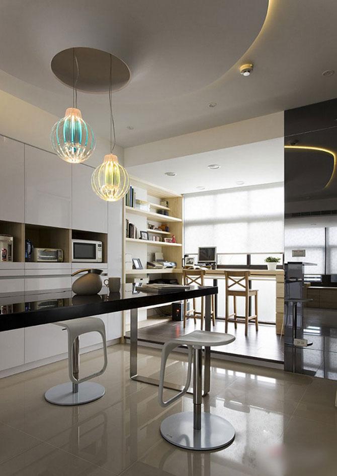 Apartament mic, cochet, alb-negru - Poza 3
