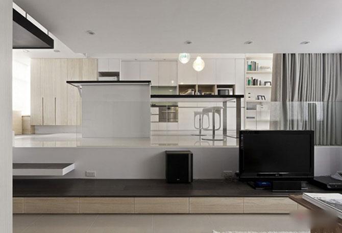 Apartament mic, cochet, alb-negru - Poza 5