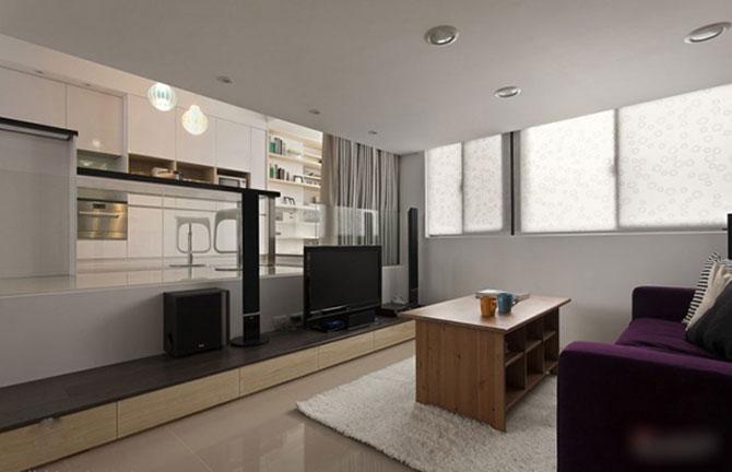 Apartament mic, cochet, alb-negru - Poza 6