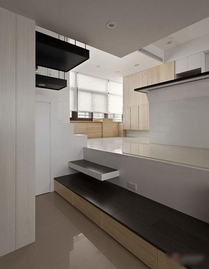 Apartament mic, cochet, alb-negru - Poza 7