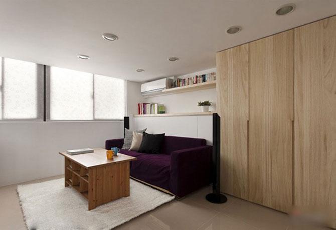 Apartament mic, cochet, alb-negru - Poza 9