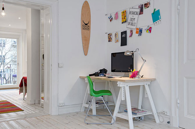 Un apartament ca un curcubeu pe fundal alb, in Suedia - Poza 5
