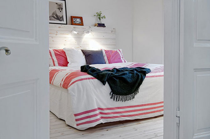 Un apartament ca un curcubeu pe fundal alb, in Suedia - Poza 6