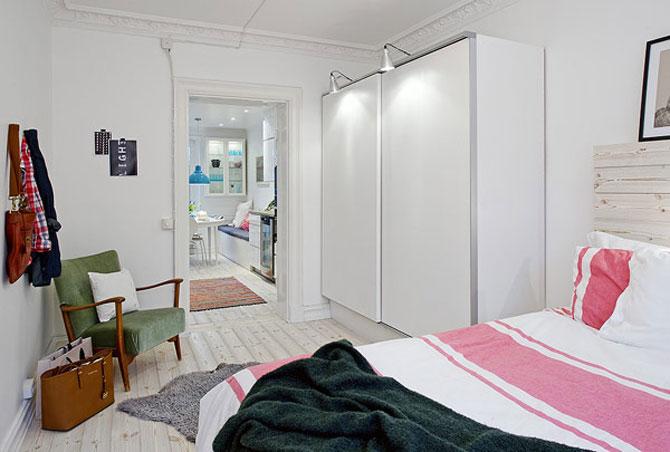 Un apartament ca un curcubeu pe fundal alb, in Suedia - Poza 7