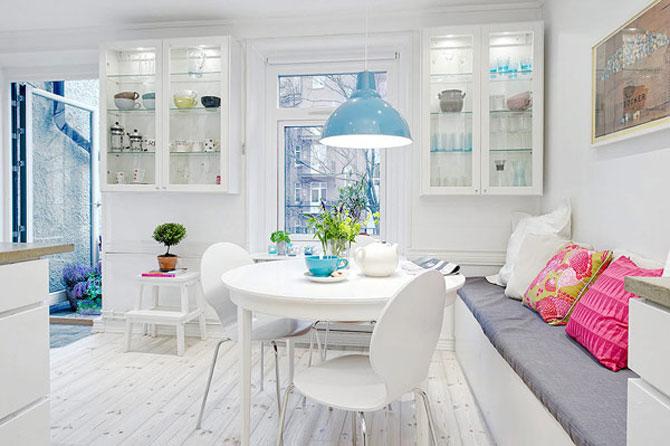 Un apartament ca un curcubeu pe fundal alb, in Suedia - Poza 9