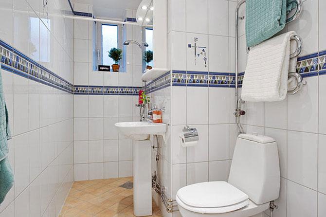 Un apartament ca un curcubeu pe fundal alb, in Suedia - Poza 13