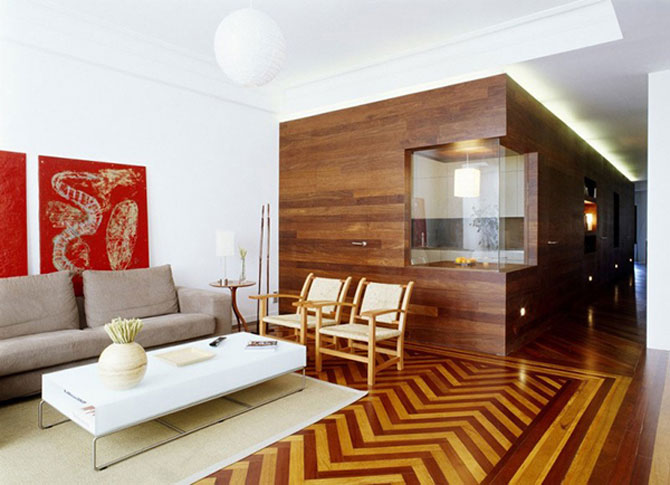 Apartament imbracat in caldura lemnului - Poza 1