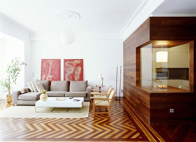 Apartament imbracat in caldura lemnului - Poza 3