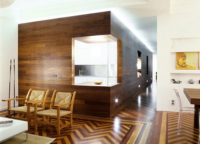 Apartament imbracat in caldura lemnului - Poza 4