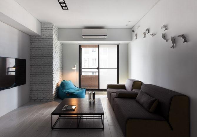 Apartament minimalist si minuscul in Taiwan - Poza 1