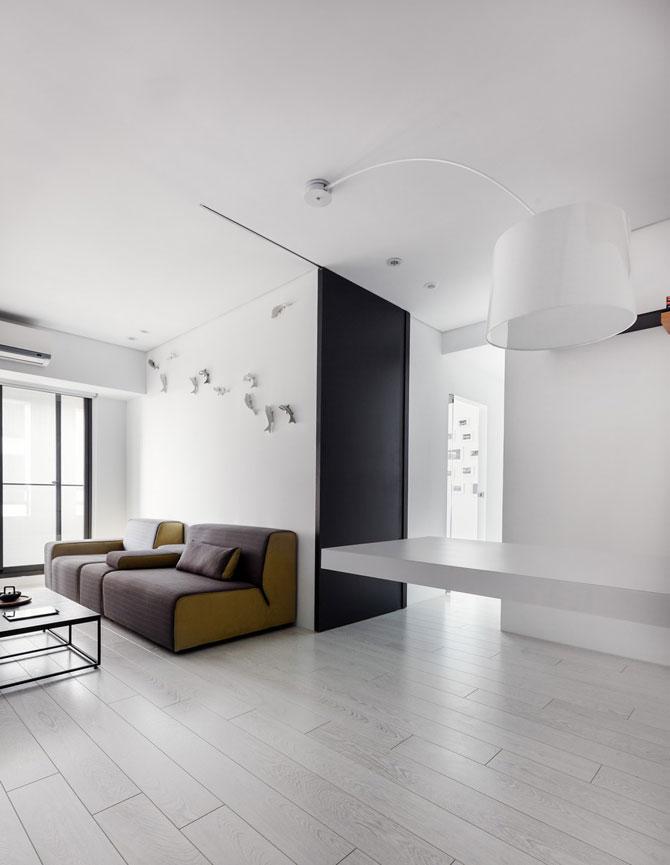 Apartament minimalist si minuscul in Taiwan - Poza 4