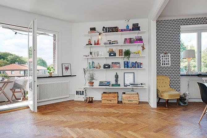 Apartament renovat cu personalitate la Gothenburg, in Suedia - Poza 3