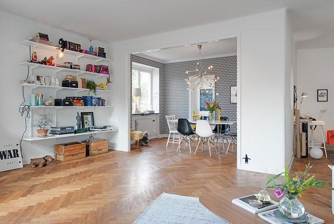 Apartament renovat cu personalitate la Gothenburg, in Suedia - Poza 5