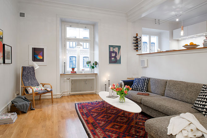 Apartament originalitate si colorat de 60 mp la Gothenburg - Poza 3